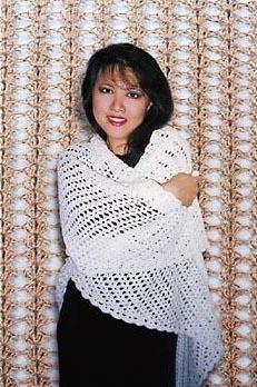 105LC crochet shawl